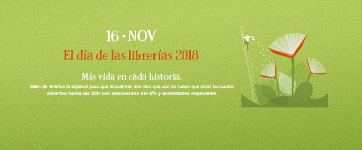 Viernes 16 de noviembre, Día de las Librerías 2018